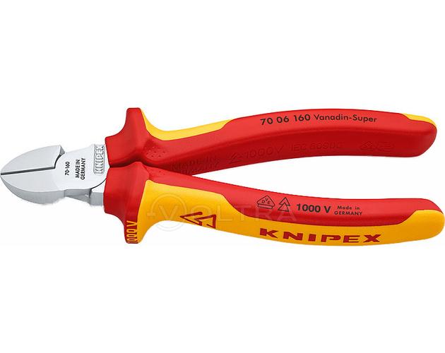 Кусачки боковые хромированные 160мм Knipex KN-7006160