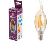 Лампа светодиодная филаментная CА35 СВЕЧА НА ВЕТРУ 6Вт E14 4000К Юпитер Декор JP6002-06