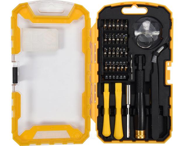 Набор инструмента отвёртка + спец биты (набор 32пр.) для сотовых телефонов Vorel 64384