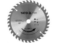 Диск пильный с напаянными зубцами из твердых сплавов 165х16х36T Yato YT-60590