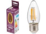 Лампа светодиодная филаментная E27 C37 6Вт 3000К Юпитер (JP6003-03)
