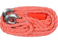 Трос буксировочный плетеный пропиленовый в комплекте с крюками 3500кг Vorel 82200