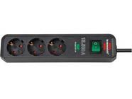 Удлинитель / фильтр сетев. 1.5м (3 роз., 3.3кВт, с/з, выкл., ПВС) Brennenstuhl Eco-Line (1158810315)
