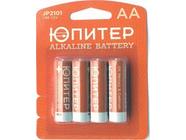 Батарейка AA LR6 1.5V alkaline 4шт. Юпитер (JP2101)