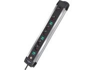 Удлинитель 3м (6 роз., 3.3кВт, с/з, 3 выкл., ПВС) Brennenstuhl Premium-Alu-Line Technics (1391000078)