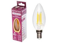 Лампа светодиодная C35 СВЕЧА 5 Вт 220-240В E14 2700К ЮПИТЕР ДЕКОР (филаментная лампа, аналог лампы накал. 50Вт, теплый свет) (JP6002-01)