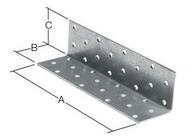 Уголок крепежный равносторонний 100х100x100 мм KUR белый цинк STARFIX (SMP-26442-1)