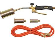 Горелка газовая 360мм с гибким шлангом 2м и 3 насадками Vorel 73340