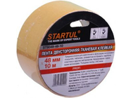 Лента двухсторонняя тканевая клейкая 48ммх25м Startul Profi (ST9049-48-25)
