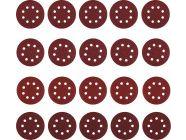 Набор шлифовальных кругов D125 зерно P40, P80, P120, P240 20шт Deko (065-0892)