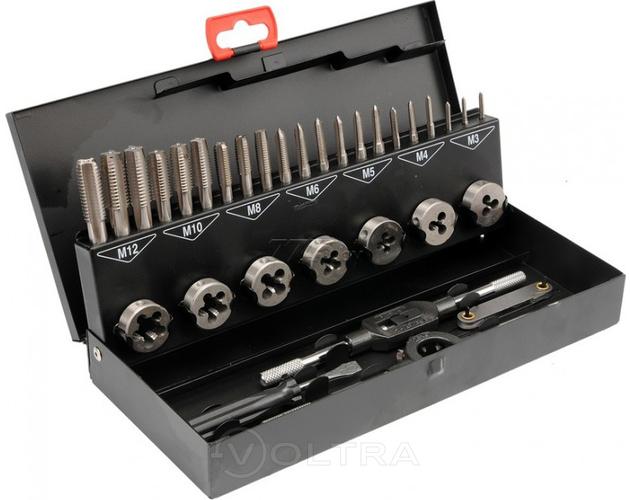 Набор метчиков и плашек 32пр RockForce RF-M032-1