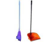 Совок с высокой ручкой складной Ленивка Люкс (оранжевый) Idea М5196