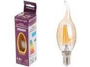 Лампа светодиодная филаментная E14 CA35 6Вт 3000К Юпитер (JP6002-04)