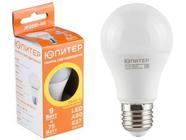 Лампа светодиодная A60 СТАНДАРТ 9 Вт 170-240В E27 3000К ЮПИТЕР (75 Вт аналог лампы накал. 820Лм, теплый белый свет) (JP5081-05)