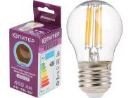 Лампа светодиодная филаментная G45 ШАР 6Вт E27 4000К Юпитер Декор JP6004-04