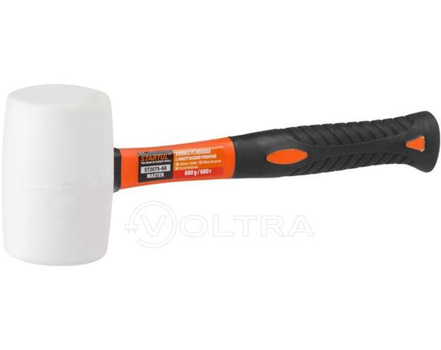 Киянка резиновая белая 0.68кг с фиберглассовой ручкой Startul Profi (ST2075-68)