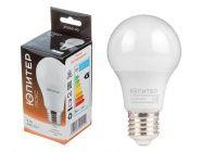 Лампа светодиодная A60 Стандарт 9Вт 170-240В E27 4000К Юпитер Люкс (JP5160-40)