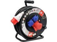 Удлинитель электрический на катушке 25м 3 розетки Yato YT-8120