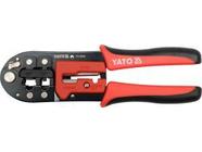 Клещи для резки, зачистки и обжима проводов 200мм (RJ45, RJ11, CAT.5, SK5) HRC42-48 Yato YT-2243