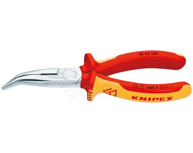 Плоские круглогубцы с режущими кромками Knipex KN-2526160