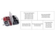 Кольца, шайбы уплотнительные резиновые, асбестовые и пластиковые Forsage F-772 383пр.