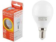 Лампа светодиодная G45 ШАР 7,5 Вт 170-240В E14 3000К ЮПИТЕР (60 Вт аналог лампы накал., 560Лм, теплый белый свет) (JP5063-13)