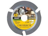 Пильный диск по дереву 115 мм для болгарки с ограничением подачи Graff Speedcutter