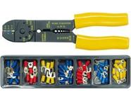 Щипцы для обжима и зачистки проводов (1.5-6.0/22-10 AWG) + наконечники Vorel 45050