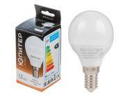 Лампа светодиодная G45 Шар 6Вт 170-240В E14 4000К Юпитер Люкс (JP5145-40)