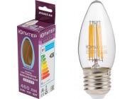 Лампа светодиодная филаментная C37 СВЕЧА 6Вт E27 4000К Юпитер Декор JP6003-04