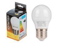 Лампа светодиодная G45 Шар 6Вт 170-240В E27 3000К Юпитер Люкс (JP5145-31)
