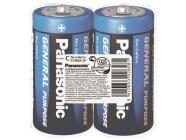Элемент питания 1.5V C/R14 Panasonic General Purpose
