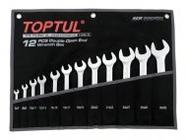 Набор ключей рожковых 6-32мм 12шт (черное полотно) TOPTUL (GPAJ1202)