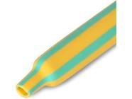 Термоусадочная трубка 2:1 КВТ ТУТнг 4/2 желто-зеленая