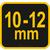 Ручное приспособление для гибки арматуры d10-12мм 25х16х6мм Vorel 49801