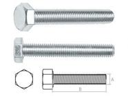 Болт М6х60 мм шестигр., цинк, кл.пр. 5.8, DIN 933 (5 кг.) STARFIX (SMV1-13513-5)