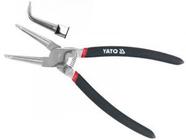 Щипцы-съемник стопорных колец загнутый (сжим) 200мм CrV Yato YT-2147