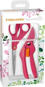 Набор инструмента (секатор+ножницы) Fiskars Inspiration Ruby (1020334)
