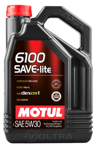 Масло моторное cинтетическое 4л Motul 6100 Save-Lite 5W-30 (107957)