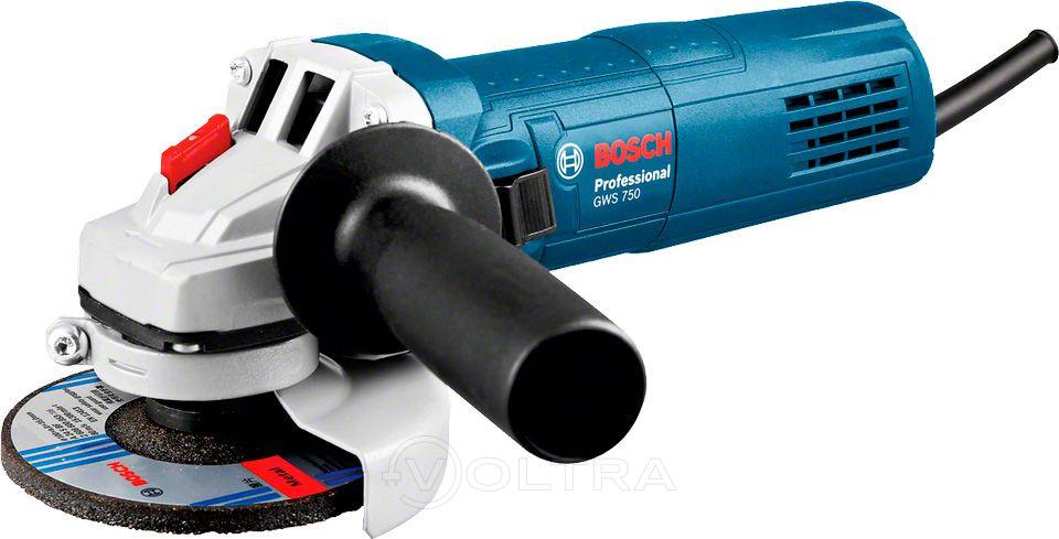 Bosch GWS  750-125 (0601394001) купить в интернет-магазине VOLTRA.BY - Болгарки 125  цена, отзывы, обзор